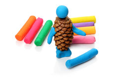 Creativity with modelling clay Stock Photo