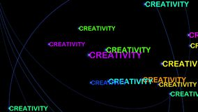 Creativity motion graphics Royalty Free Stock Images