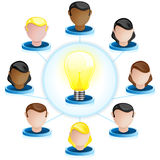 Creativity Network Crowdsourcing Stock Image