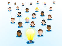 Creativity Network Crowdsourcing Royalty Free Stock Photography