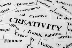 Creativity And Other Related Words Stock Photography