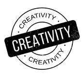 Creativity rubber stamp Royalty Free Stock Photos
