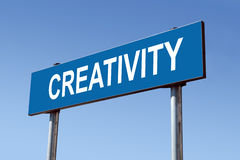 Creativity signpost Stock Photography