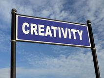 Creativity signpost Royalty Free Stock Photo