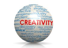 Creativity sphere Stock Image