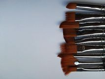 Creativity tools paint your future. Set of brushes for the artist on a white background royalty free stock photography