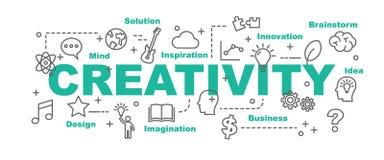 Creativity vector banner Royalty Free Stock Photography