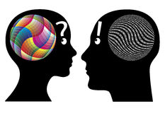 Creativity versus logic. Differences in cognition between man and woman Stock Photo