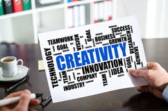 Creativity word cloud concept on a paper Royalty Free Stock Photography