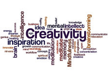 Creativity, word cloud concept Stock Image