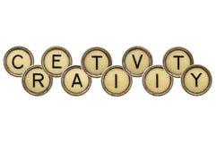 Creativity word in typewriter keys Stock Images