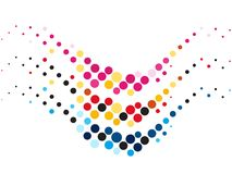 Creativo abstracto dotes onda de los colores Foto de archivo