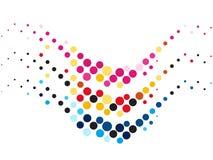 Creativo astratto dotes onda di colori Fotografia Stock