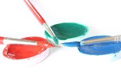 Creativo - cepillo y color imagenes de archivo