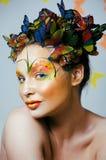 Creativo componga come la farfalla Fotografia Stock