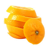 Creativo componga la naranja navel de la diapositiva foto de archivo libre de regalías