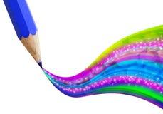 Creativo corrija com a onda colorida. ilustração stock