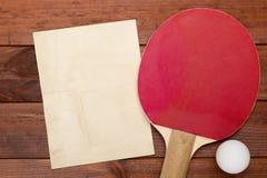 Creativo en el tema de los tenis de mesa Imagen de archivo libre de regalías