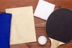 Creativo en el tema de los tenis de mesa Foto de archivo