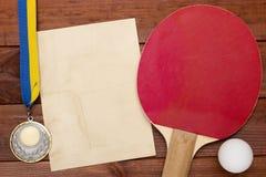 Creativo en el tema de los tenis de mesa Fotografía de archivo libre de regalías