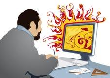 Creativo no trabalho (vetor) Fotografia de Stock Royalty Free