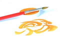 Creativo y cepillo y color imagen de archivo libre de regalías