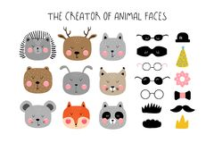 Creator of animals in the Scandinavian style. For children`s posters royalty free illustration