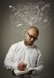 Creator. Man in thoughts. Stock Photos