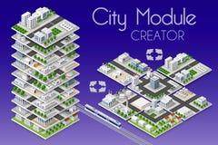 Creatore del modulo della città royalty illustrazione gratis