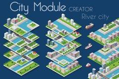 Creatore del modulo della città illustrazione di stock