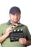 Creatore di pellicola con l'ardesia della pellicola fotografia stock libera da diritti