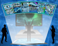 Creators. Abstract image on computers, the Internet, communications and high technology Stock Images