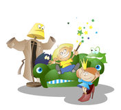 Creators of fairy tales. Children at play.  creators of fairy tales. vector Royalty Free Stock Photography