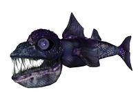 Creatura dall'oceano profondo illustrazione vettoriale