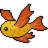 Creatura del pesce di arte del pixel di vettore illustrazione vettoriale