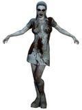 Creatura di Halloween - infermiere sanguinoso Fotografia Stock