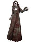 Creatura di Halloween - suora sanguinosa Fotografia Stock Libera da Diritti