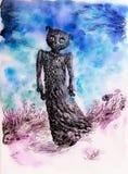Creatura di sogno, materiale illustrativo variopinto dettagliato Immagine Stock