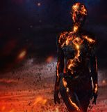 Creatura fatta da lava immagini stock