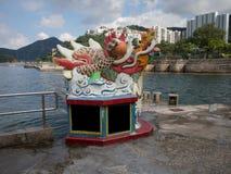 Creatura leggendaria antica di Dragon Statue The nella fantasia del ` s della Cina immagini stock libere da diritti