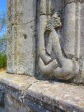 Creatura mitica astratta sulla parete della tomba di bella donna cara Fotografia Stock