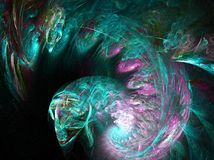 Creature. Abstract image created with apophysis Stock Image