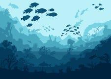 Creature del mare e della barriera corallina Immagine Stock Libera da Diritti