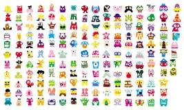 Creature dell'icona Immagine Stock
