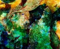 Creature di Elven e luci leggiadramente di energia, una comprensione in un fatato r Fotografia Stock