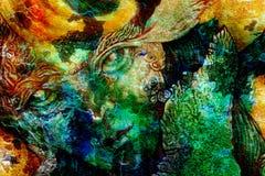 Creature di Elven e luci leggiadramente di energia, una comprensione in un regno leggiadramente, primo piano del ritratto del fro Fotografia Stock Libera da Diritti