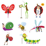 Creature icons. Cartoon style creature icons pattern design.created by Adobe Illustrator software Royalty Free Stock Photography