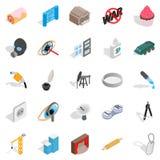Creature icons set, isometric style. Creature icons set. Isometric set of 25 creature vector icons for web isolated on white background Royalty Free Illustration