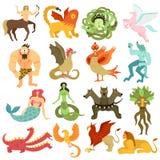 Creature mitiche messe illustrazione vettoriale