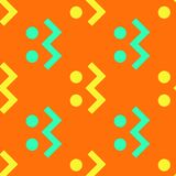 Creature running seamless pattern. Strict line geometric pattern for your design Stock Images